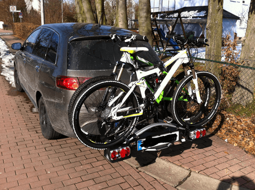 heckträger mit Fahrrädern