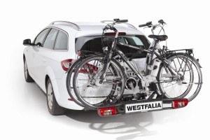 Heckträger von Westfalia am Auto anmontiert