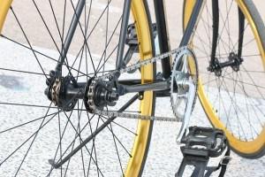 Fahrrad stehend
