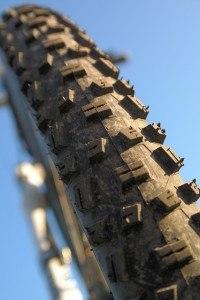 Fahrradreifen von vorne