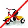 Der Fahrradträger ist nicht für Dreiräder geeignet