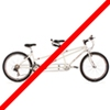 Das Tandemrad kann nicht mit einem Fahrradträger transportiert werden