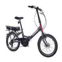 Telefunken E-Bike Klapprad, Elektrofahrrad Alu in grau, 7 Gang Shimano Kettenschaltung